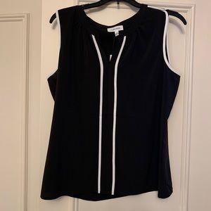 NWT Calvin Klein sleeveless blouse -M